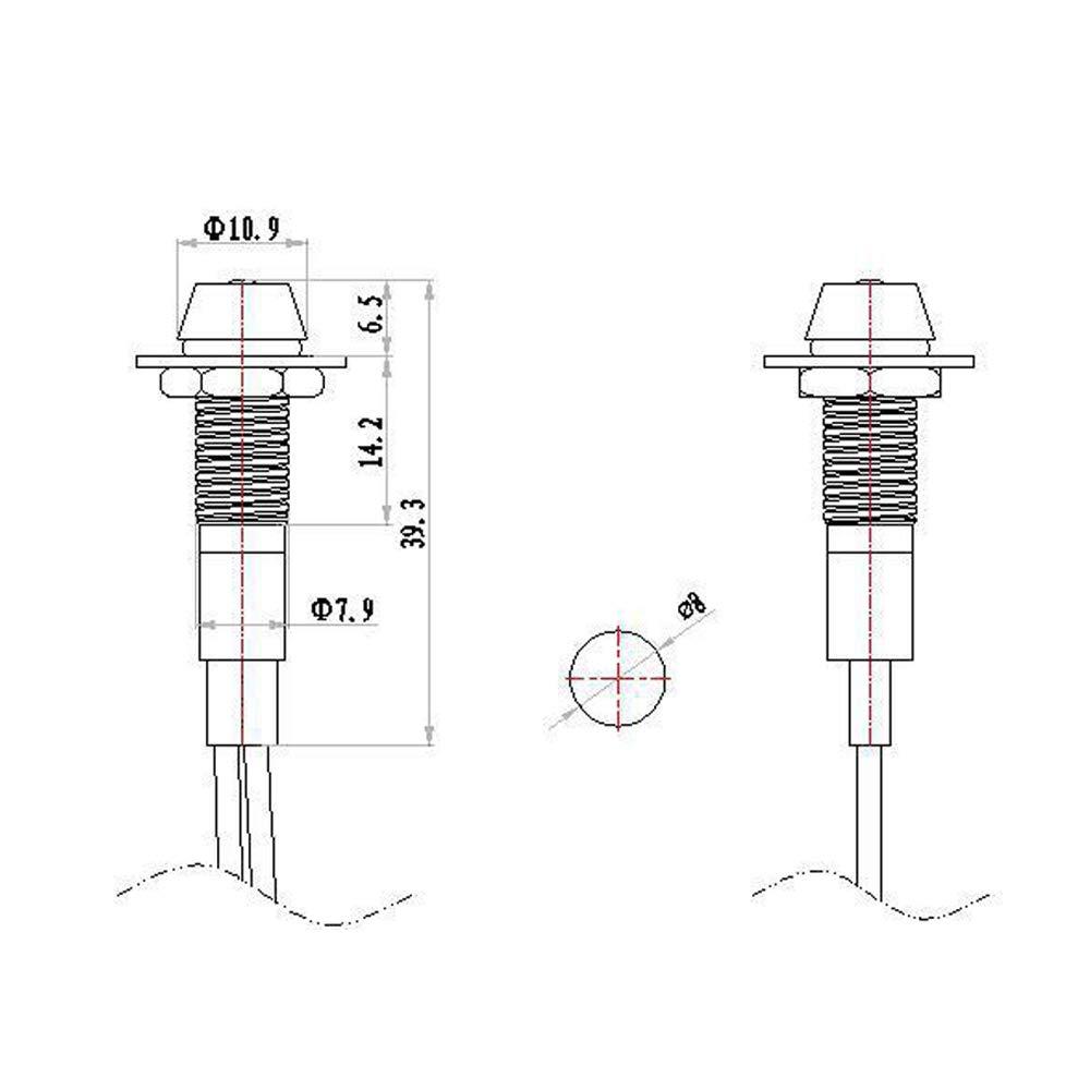 Blue DELUXE VERSION PME 10pcs//set LED Indicator Light Bulb Pilot Dash LED Lamp 12v Universal for Car Auto Vehicle Boat