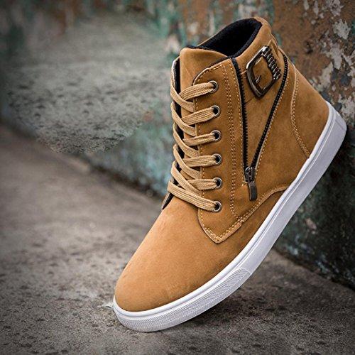 Canvas Männer Schuhe Martin Warm Top Mode Sneaker Biker Hohe A Casual OverDose Schuhe Stiefel Schnürstiefel Stiefel Freizeit Yellow Boots Schuhe qS8wc