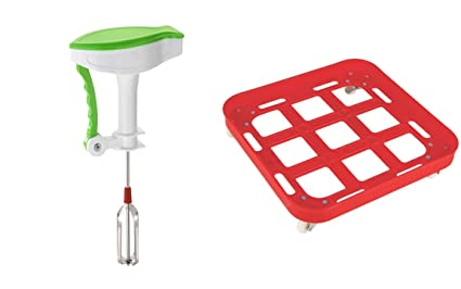 Sarangware Power Free Hand Blender With Tin Square Trolley, Oil Tin Trolley Plastic with wheel, Idle For Kitchen