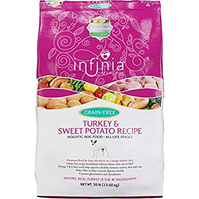 Infinia | Turkey and Sweet Potato Grain-Free Adult Dog Food | Nutritionally Complete - 30 Pound (30 lb) Bag