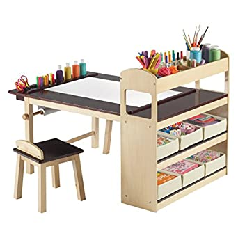 ec3dde27991 Top Rated Selling Professional Model Deluxe Kids Childrens Wood Creative  Arts Crafts Painting Drawing Table Work