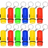 BBTO 24 Pieces Assorted Mini Flashlight Keychain Toy Flashlight Key Chain Children Toddlers