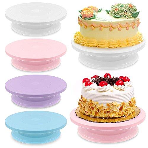 Revolving Circular Cake Display - KANG--28cm Cake Decorating Rotating Revolving Icing Kitchen Display Turntable Stand US