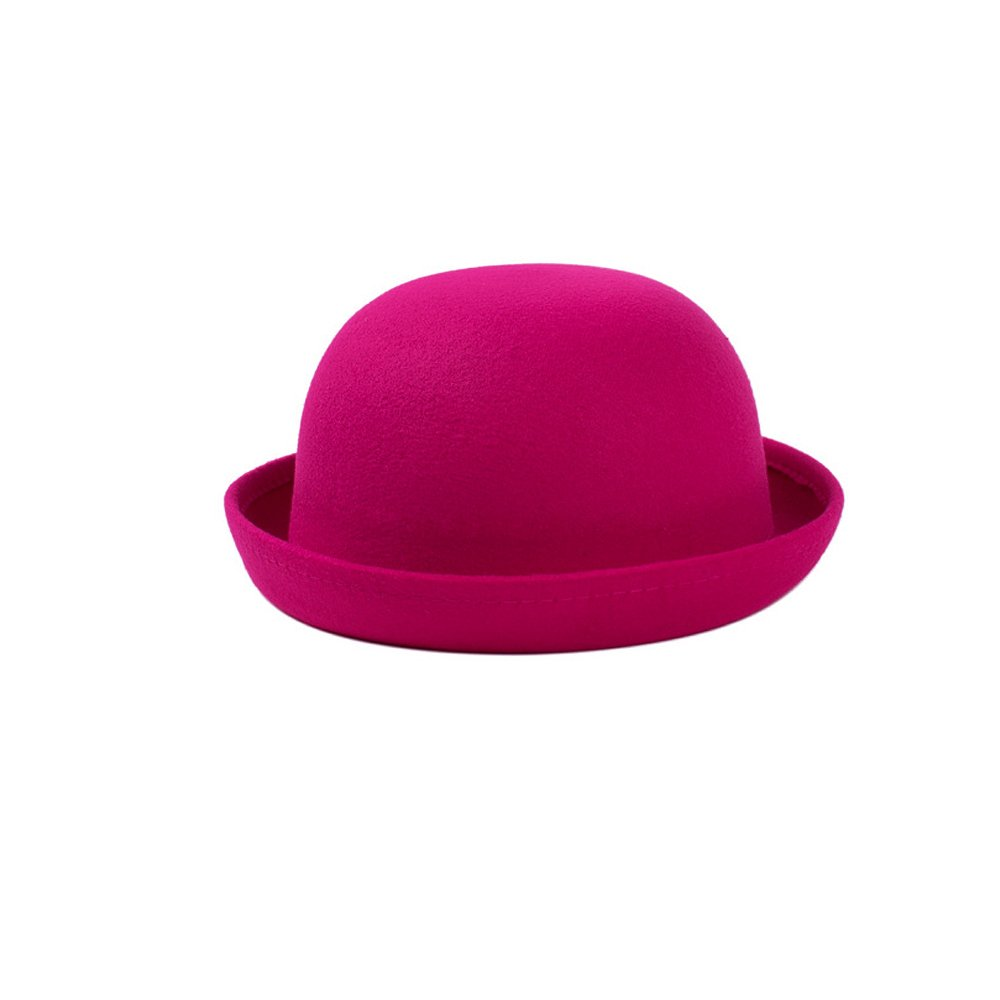 Accessotech Fashion Lady Vogue Vintage Women's Wool Cute Trendy Bowler Derby Hat Fashion