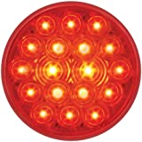 "Grand General 76452 Fleet Red 4"" Round 18-LED Stop/Turn/Tail Sealed Light"