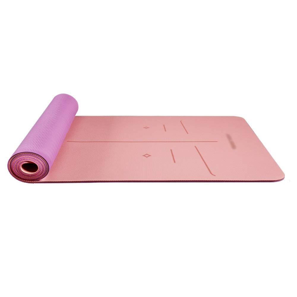 XF ヨガ マット ヨガマット - 太め、長く、ノンスリップ、女性と男性の初心者ヨガフィットネスピラティス多機能運動マット、フロアマット、サイズ:183cm×66cm フィットネストレーニング (色 : Dreamland Purple Sea Sky Blue, サイズ さいず : 8mm) B07MDPL22V 6mm|Cherry Powder Elegant Purple Cherry Powder Elegant Purple 6mm