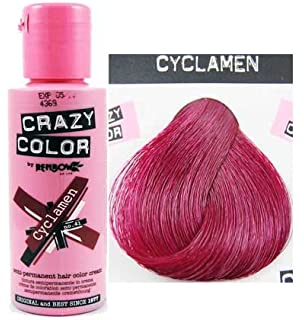 x4 renbow crazy color conditioning hair colour cream 100ml cyclamen - Crazy Color Aubergine