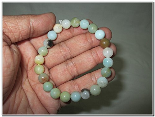 New Amazonite Round Beads Stretch Bracelet Natural Genuine Authentic A+ ()