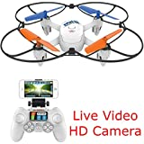 SkyCo Mini Rc Wifi Fpv Wifi Drone Quadcopter with HD Camera Live Video One-Key-Return RFT Headless Helicopter Altitude Hold