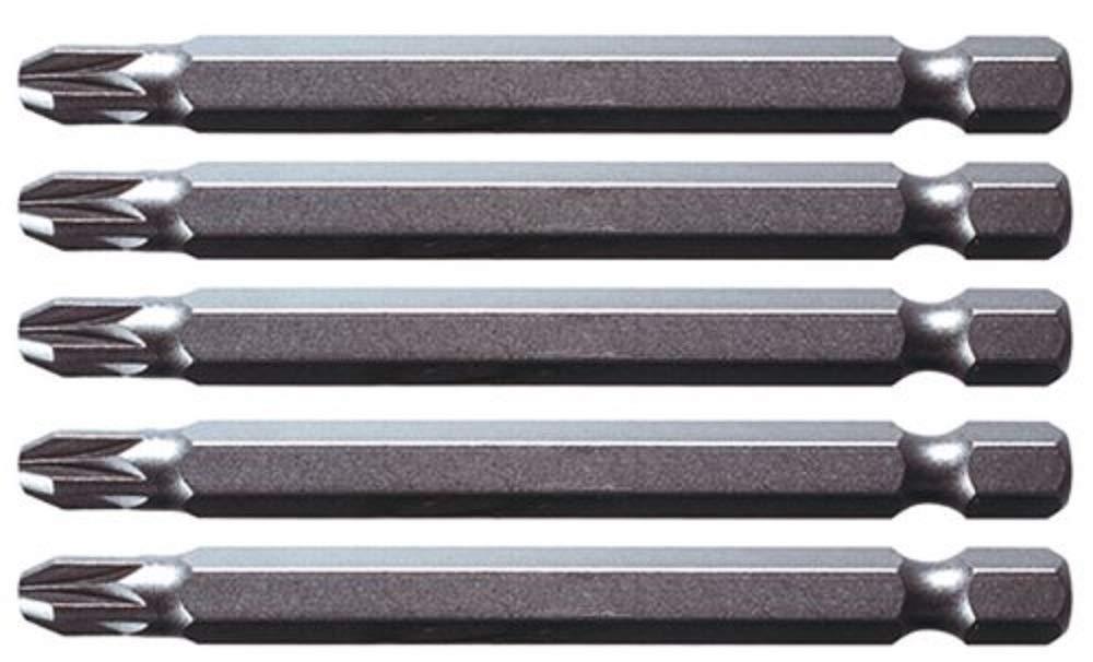 tama/ño: 1//4 KS Tools 911.7728 Pack Punta Classic para Tornillos en Cruz PZ2 75mm Set de 5 Piezas
