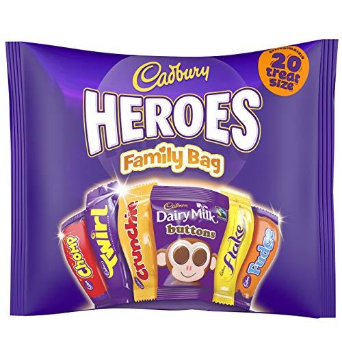 - Cadbury Heroes Family Bag Treatsize 278G