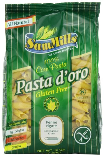 Sam Mills Pasta D'Oro Gluten Free Penne Rigate, 1-Pound (Pack of 6)