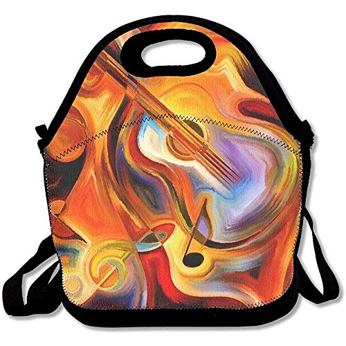 Cooler Shoulder Tote Strap Kids Thick Large Lunch Lunch Warm Bags Insulated Abstrat Pouch amp; Bags Warm Women Teens for Girls Neoprene Adults Melody with Design Aqnw7T