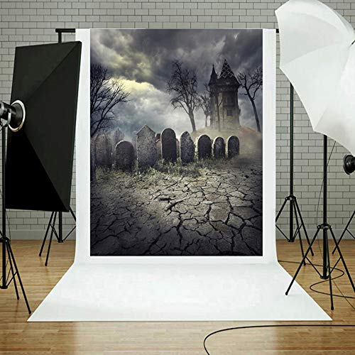 MOKO-PP Halloween Backdrops Pumpkin Vinyl 3x5FT Lantern Background Photography Studio G(G)