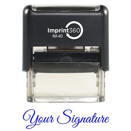 IMPRINT360, Custom Signature Stamp (BLUE INK) - Self-Inking Stamps are Perfect for Fast, Repetitive Stamping. by IMPRINT360