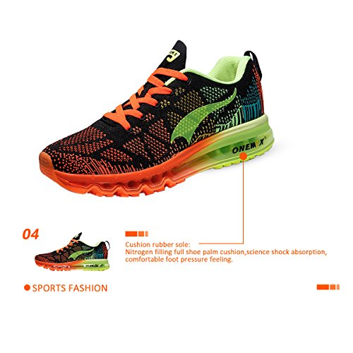 ONEMIX Women's Lightweight Air Cushion Outdoor Sport Running Shoes Black Green sale online discount recommend rvjVKvgIS
