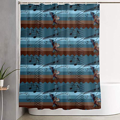 MAHENSHANGM Kokopelli Southwest Music Musical Note Shower Curtain Waterproof Bathroom Curtains Decor Set 60 X 72 inch