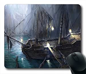 Pirate Ship Fantasy Abstract Oblong Shaped Mouse Mat