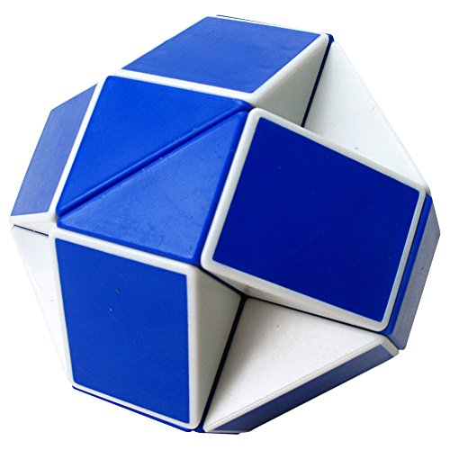 Snake Magic Speed Cube, ABS Ultra-smooth Master Speed Twist Cube, Brain Teaser Toys & Christmas Birthday Gifts by YKL WORLD (Blue & White) (Snake Rubiks)