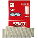 Senco M006104 2000pk 5/8'' Leg 15 Gauge Plastic Composite Finish Nail