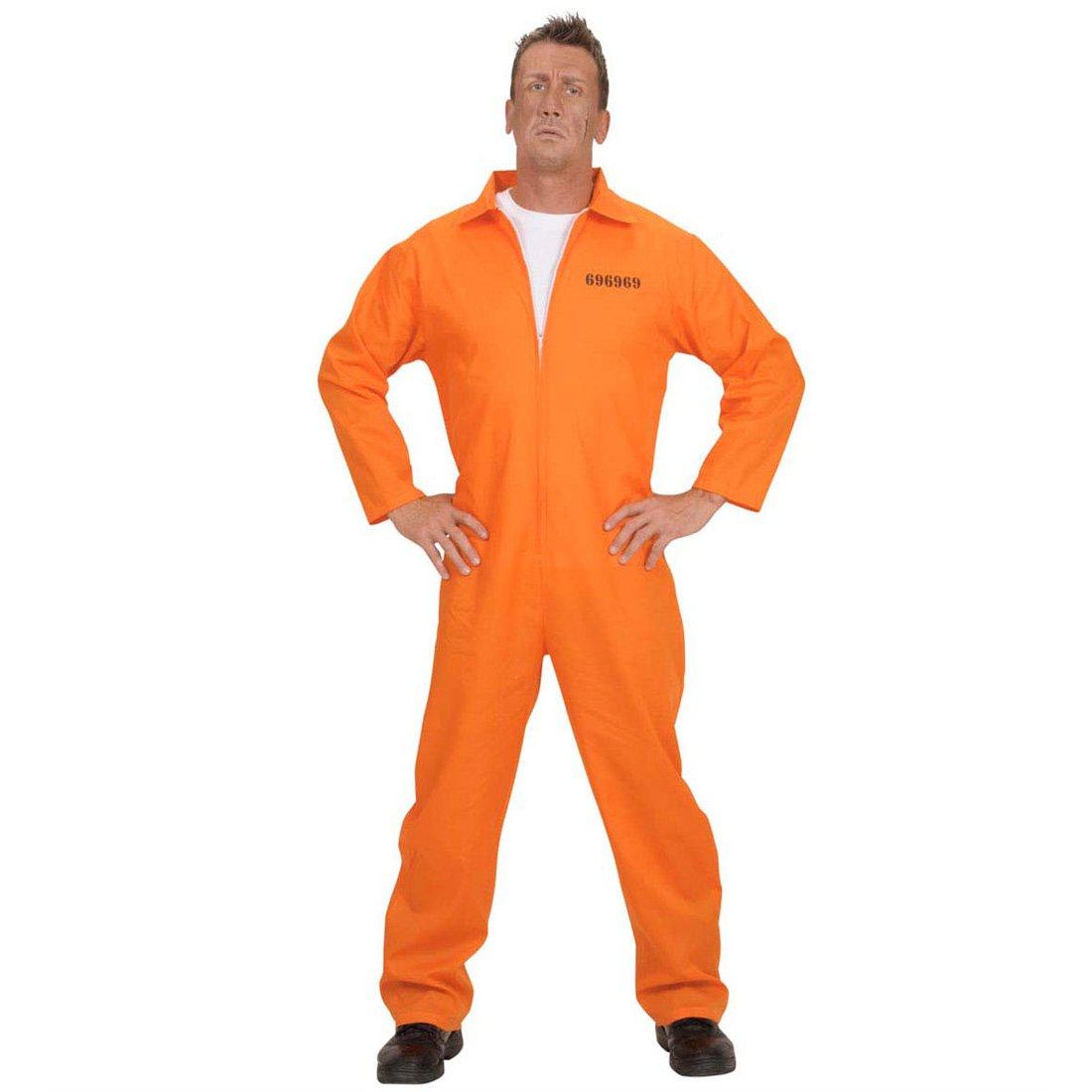NET TOYS Costume Arancione detenuto Guantanamo tagliatravestimento carcerato Prigioniero Carnevale M 50//52