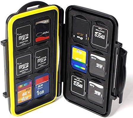 MASUNN Tarjeta De Memoria Impermeable Estuche Caja Protectora Bolsa Dura Soporte 12 SD 12 TF Tarjeta Micro SD: Amazon.es: Electrónica