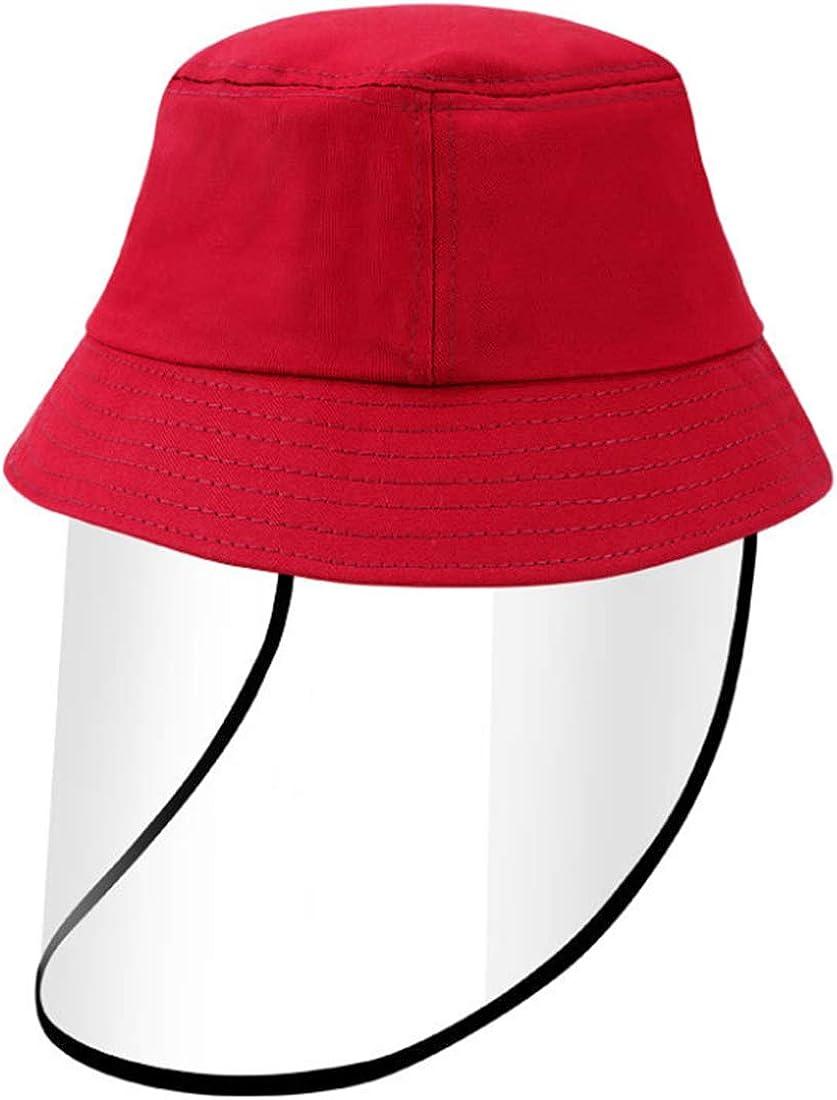 OLIPHEE Cappelli alla Pescatora Protezione con Visiera Rimovibile Tinta Unita Cappello Carina per Bambine e Bambini