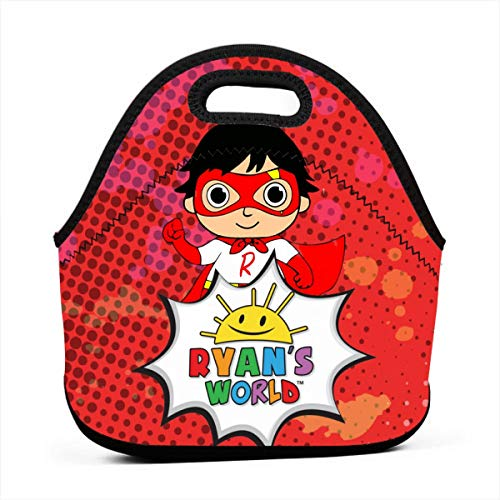 Rose Marlowe Ry-an Toy Rev-iews Toys Lunch Bag Tote Waterproof Outdoor Travel Picnic Carry Case Lunchbox with Zipper for Womens Mens Boys Girls