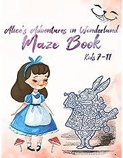 Alice's Adventures in Wonderland Maze Book, Kids 7-11
