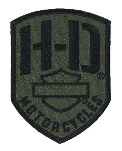 Harley-Davidson Badge H-D Emblem Patch, XS 2.375 x 3.25 inch, Olive EM475531
