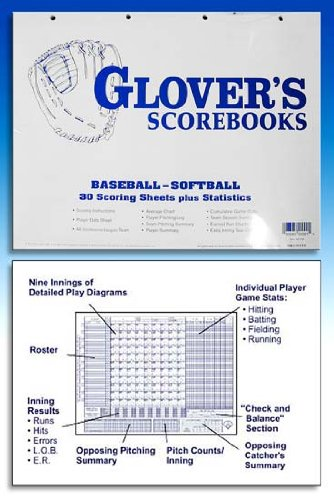 amazon com glover s scorebooks baseball softball scoring and stats