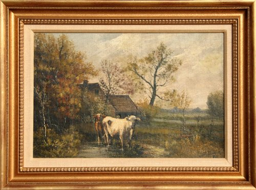 Untitled - Cow Farm Landscape ()