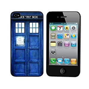 Mokingtop? Fashion New Tardis Doctor Dr Who Police Box Hard Back Case Cover for iPhone 4S 4G 4