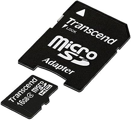 Amazon.com: Transcend 16 GB MicroSDHC Tarjeta de memoria ...