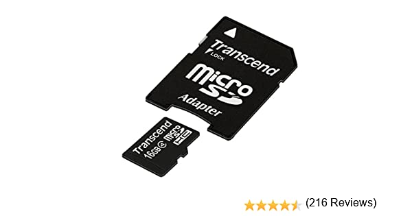 Transcend TS16GUSDHC4 - Tarjeta de Memoria Flash Micro SDHC de 16 ...