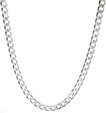 Silver link chain necklace with silver coral pendant of 36 x 28 mm length 50 cm