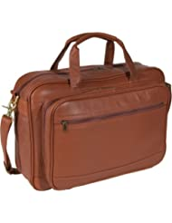 Royce Leather Unisex Expandable Briefcase