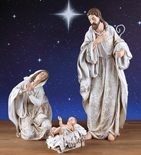 3 Piece Holy Family Nativity Figures 22.5'' by CC Christmas Decor