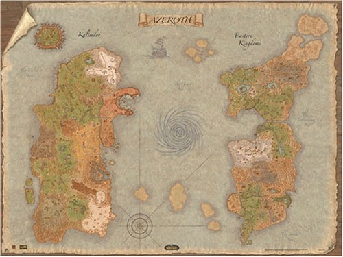Amazon the world of warcraft two sided world map 24 x 32 amazon the world of warcraft two sided world map 24 x 32 video games gumiabroncs Choice Image