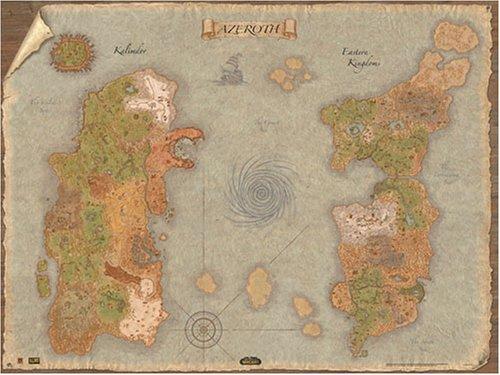 Amazon.com: The World of Warcraft Two-Sided World Map 24\