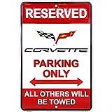 "Hangtime MC80084 Corvette Parking Sign, 8 x12"", Red"