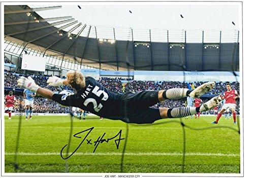 Joe Hart Manchester City Autographed 12