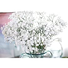 AIMTOPPY Artificial Gypsophila Floral Flower Fake Silk Wedding Party Bouquet Home Decor (White)
