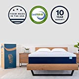 Sleep Innovations Shiloh 14-inch Memory Foam Mattress, Bed in A Box, Soft Cover Made in the USA, 10-Year Warranty, Twin, White