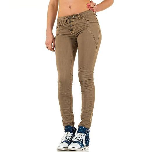 Damen Jeans, USED LOOK HÜFT SKINNY JEANS, KL-J-B007-3: Amazon.de: Bekleidung