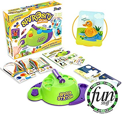 with Patent Pending Motorized Tool Quilling Based Creative Toy and Activity Set for Boys and Girls Above 5 Years Spyrosity Explore