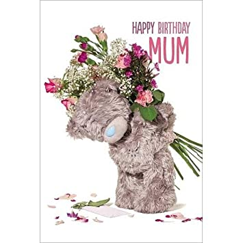 3d Holographic Mum Me To You Bear Birthday Card Amazon