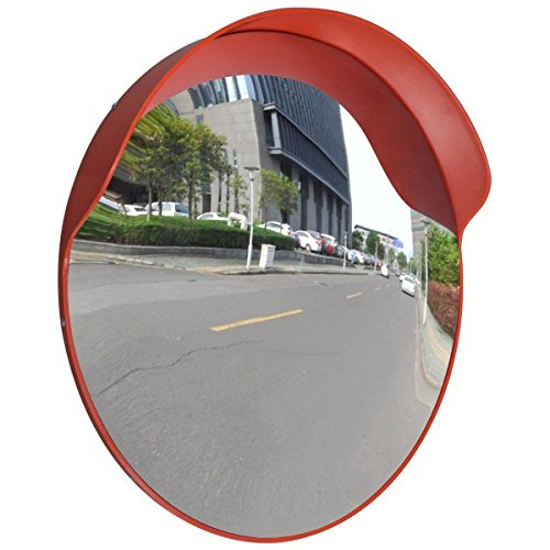 - Outdoor Road Traffic Convex PC Mirror Safety & Security, Wide Angle Driveway, 24