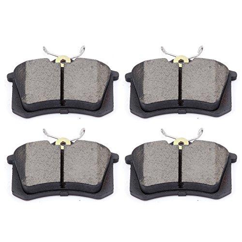 (Brake Pads,ECCPP 4pcs Rear Ceramic Disc Brake Pads Kit for Audi A3/A3 Quattro/A4/A4 Quattro/A6/A6 Quattro/A8 Quattro/Allroad Quattro/S6/S8/TT/TT Quattro,Volkswagen Beetle/Golf/Jetta/Jetta City/Passat)