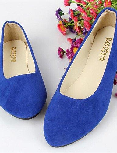 Felpato Giallo ShangYi Blu Nero arrotondata Rosso Casual Ballerine Scarpe Viola Marrone Rosa Punta Donna Verde Blue Piatto Dark W48qw4Pr0z